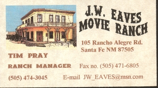 JW Eaves Movie Ranch